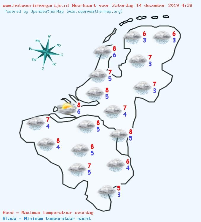 Het weer in België en Nederland